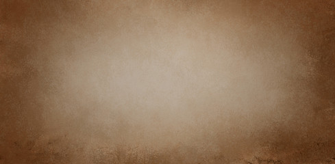 Wall Mural - Brown background paper texture in old vintage sepia color with distressed grunge borders and light beige center design, antique grungy elegant frame