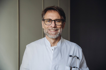 Portrait of a confidently smiling doctor