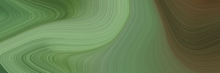 elegant surreal designed horizontal header with dim gray, dark olive green and dark sea green colors. fluid curved flowing waves and curves