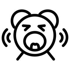 Wake up alarm icon. Ringing bear alarm sign.