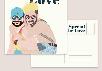 Pride Postcard Layout
