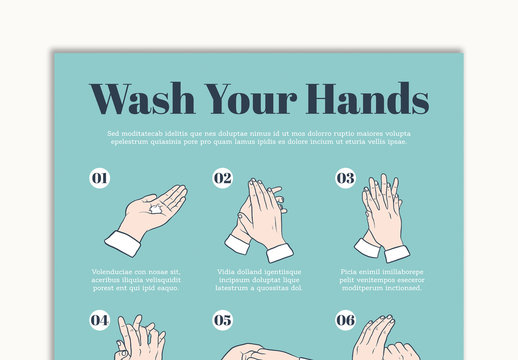 Hand Washing Guide Poster Layout