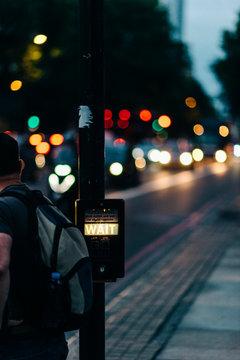 Crosswalk Signal with anonymous pedestrian