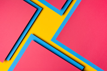 Abstract colorful geometric shapes.