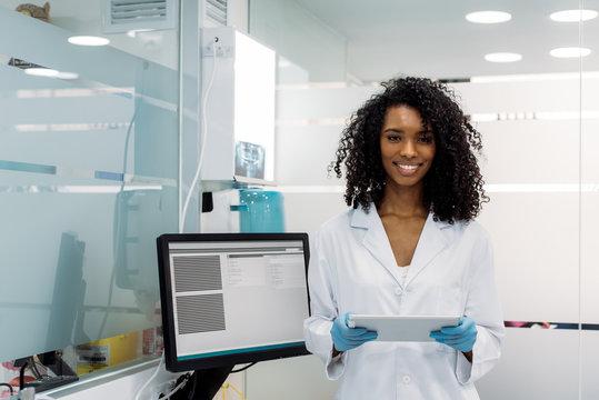 Female dentist at work