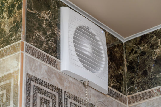ventilation system of the bathroom. Fan for ventilation of the bath.