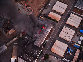 Structure Fire South Los Angeles Fotomurales