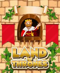 Photo sur Aluminium Jeunes enfants Font design for word land of thrones with king