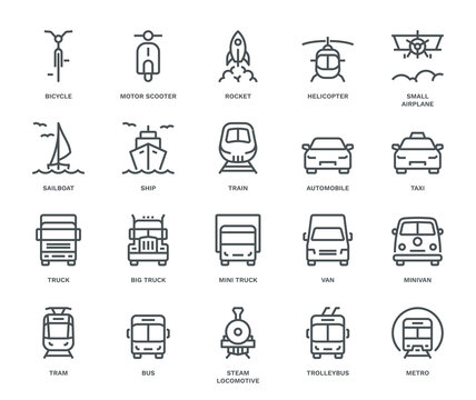Transport Icons, front View, part II.