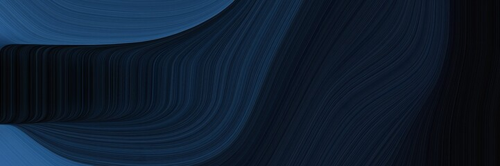 elegant flowing header with very dark blue, dark slate blue and dark slate gray colors. fluid curved flowing waves and curves