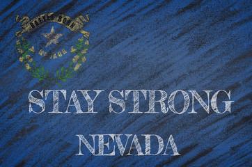 Nevada ,flag illustration. Coronavirus danger area, quarantined country. Stay strong.