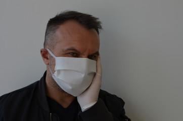 Fototapeta maseczka, medyczne, doktor, grypa, lek, izolowany, portret, bezpieczeństwa, choroba, osoba, ochronny, młoda, zdrowie, buzia, lud, chronić, przeziębienie, wirus,koronawirus ,maseczka coronavirus ,koron