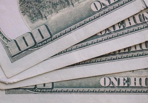 Close up of us dollar notes