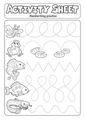 Self adhesive Wall Murals For Kids Activity sheet handwriting practise 7