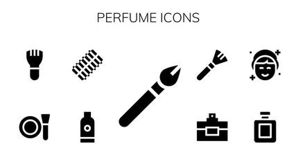 perfume icon set Wall mural