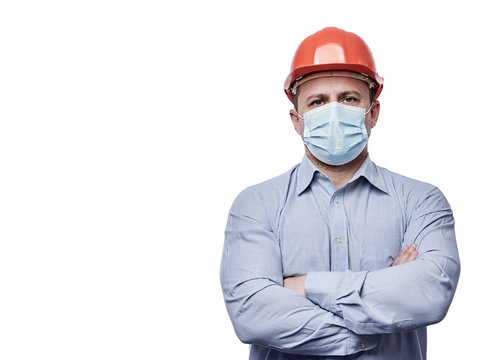 Engineer with face mask