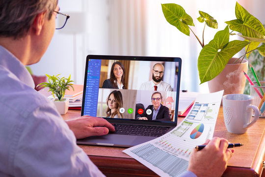 Remote Work - Video Conference Concept - Working At Home
