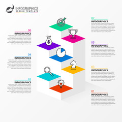 Wall Mural - Infographic design template. Creative concept with 7 steps
