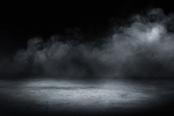 concrete floor and smoke background Wall mural