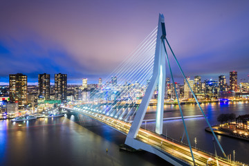 Canvas Prints Rotterdam Rotterdam, Netherlands Skyline