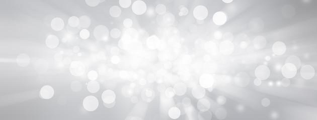 white bokeh blur background / Circle light on blue background / abstract light background Fotomurales