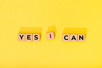 Yes I can message on wooden blocks. Motivational Words Quotes Concept