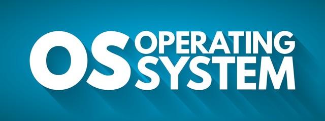 Fototapeta OS - Operating System acronym, business concept background obraz