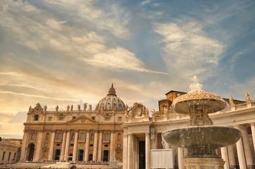 Basilica di San Pietro, Vatican, Rome, Italy Saint Peter Square Fotomurales