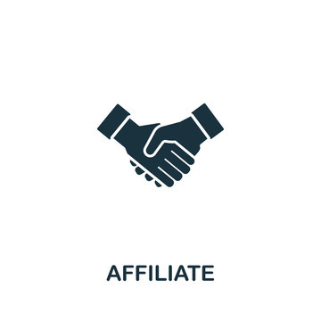 Affiliate icon from streaming collection. Simple line Affiliate icon for templates, web design and infographics