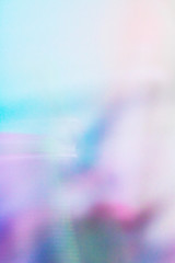 Abstract Blurred Background in Vibrant Colours in Futuristic Style