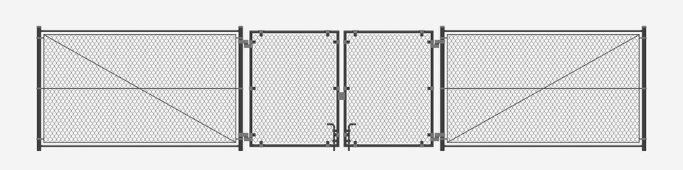 chain link fence on white