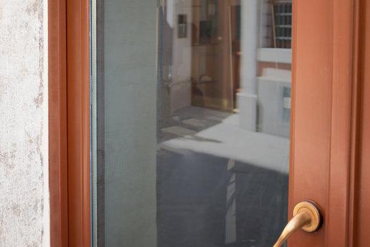 Clean store front door window for logo mockup