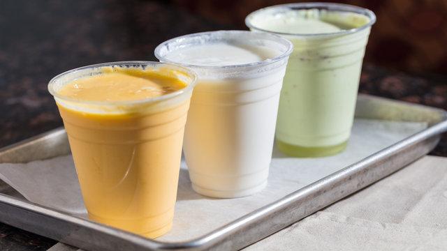 Indian mango lassi drinks