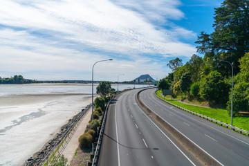 Empty highways during the corona virus pandemic lockdown.
