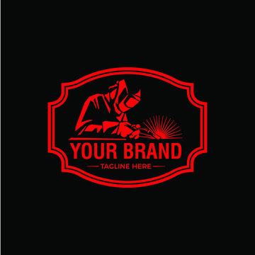 Welding logo company badge logo design, classic emblem logo