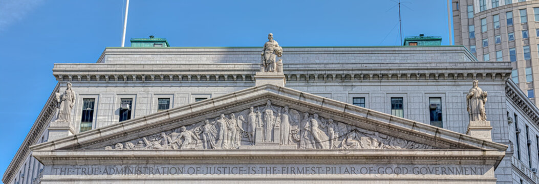 NEW YORK, USA - OCTOBER 2, 2018: New York County Supreme Court building at Foley Square.