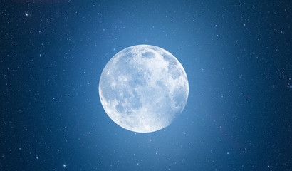 Wall Mural - Full Blue Moon