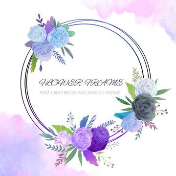 원형 꽃 프레임