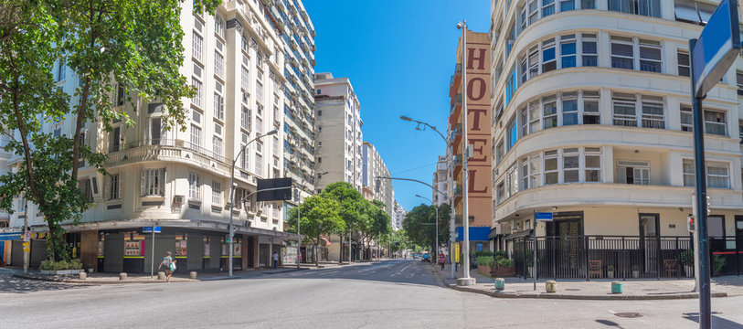 Rio de Janeiro's empty streets during the COVID-19 pandemic.