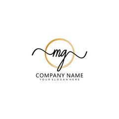 Fototapeta MG initial Handwriting logo vector templates obraz
