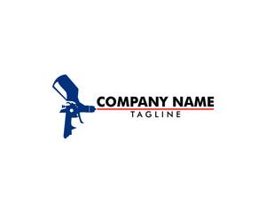 Paint Spray Gun Logo Template Design