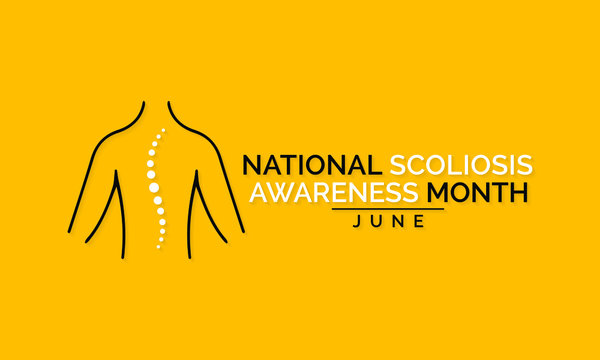 Vector illustration on the theme of National Scoliosis awareness month observed each year during June.