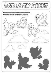 Photo sur Aluminium Enfants Activity sheet topic image 6