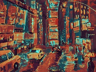 Poster Tokyo City street in New York