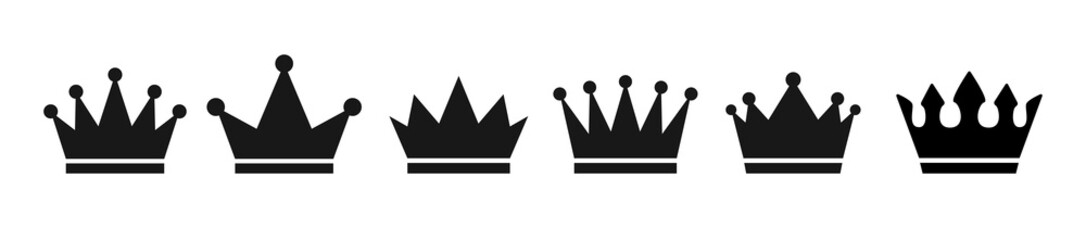 Crown set icon . Vector illustration. Wall mural