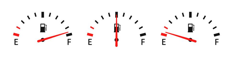 Fuel full set. Vector icon