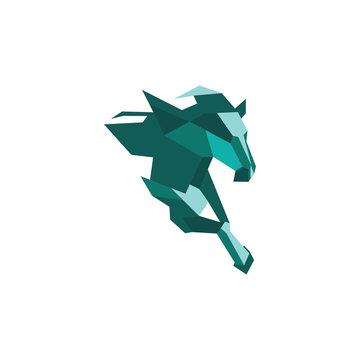 Animal horse logo vector design template