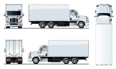 Vector truck template isolated on white for car branding and advertising. Available EPS-10 separated by groups and layers with transparency effects for one-click repaint. Wall mural