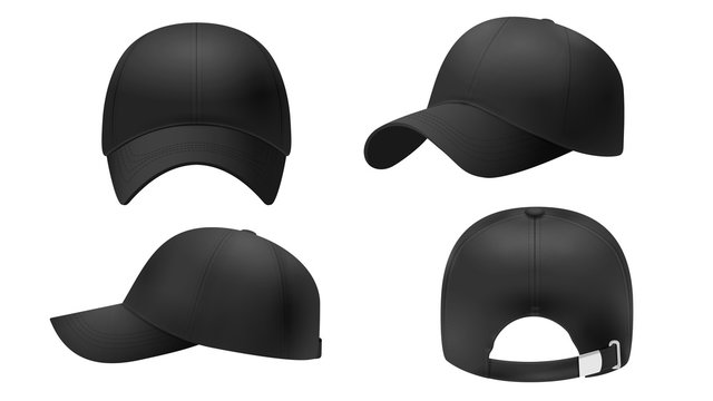 Black cap Mockup, realistic style