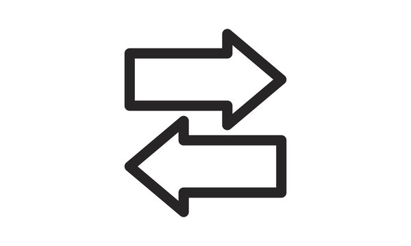 Direction arrows icon vector illustration.